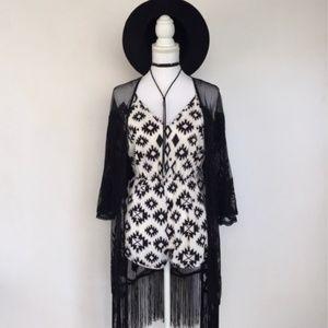 Pants - NWOT Tribal Black & White Romper